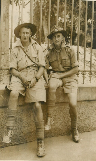Stuart Sillars (left) and George Smith (right) at Ezbekieh Gardens - June 21st 1941