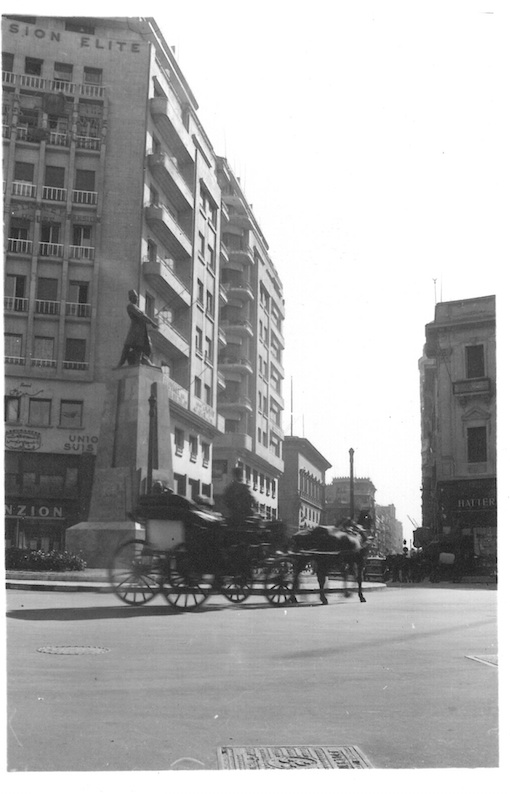 View of Street in Cairo with buggy in foreground