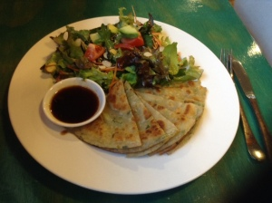 Formosa Delight - Chive Pancakes with Salad