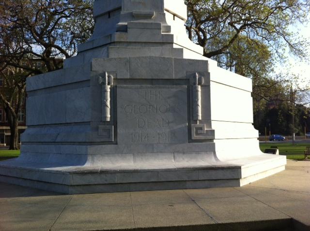 WW1 side of the War Memorial