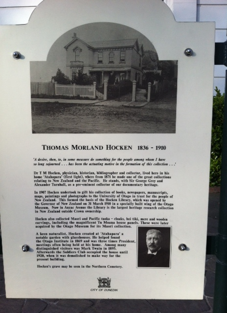 History is everywhere - this sign outside the office I have been working in these past weeks