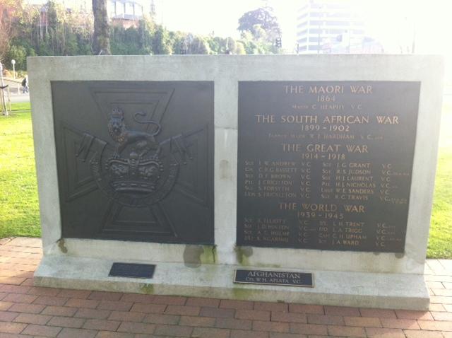 Plaque near the War Memorial
