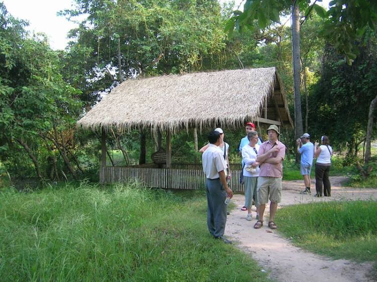 Tourists at the Killing Fields