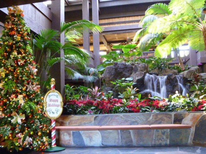 Christmas Tree in the Polynesian Resort's lobby