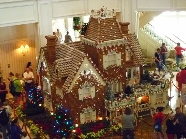 And the gingerbread house in the Grand Floridian lobby is huge!