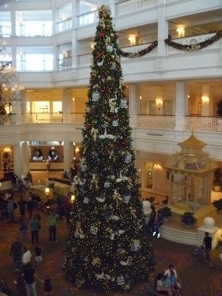 The main Christmas Tree in the Grand Floridian