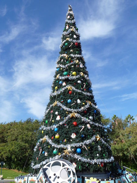 Christmas Tree outside Disney's Hollywood Studios Theme Park