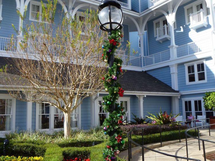 Garland outside the Beach Club Resort