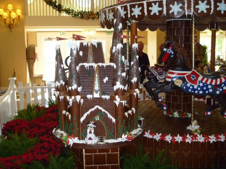 Plus a gingerbread house