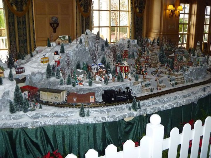 Christmas themed train set