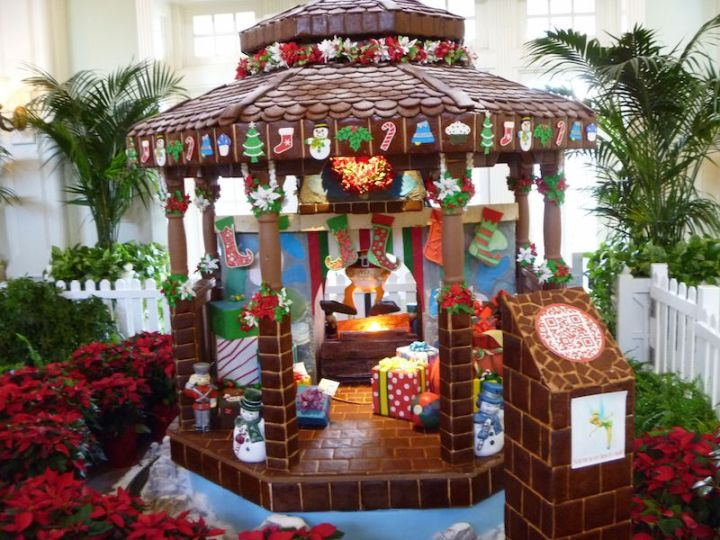 Gingerbread house at the Yacht Club Resort
