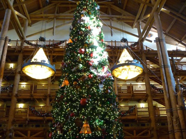 Christmas Tree in the Wilderness Lodge Lobby