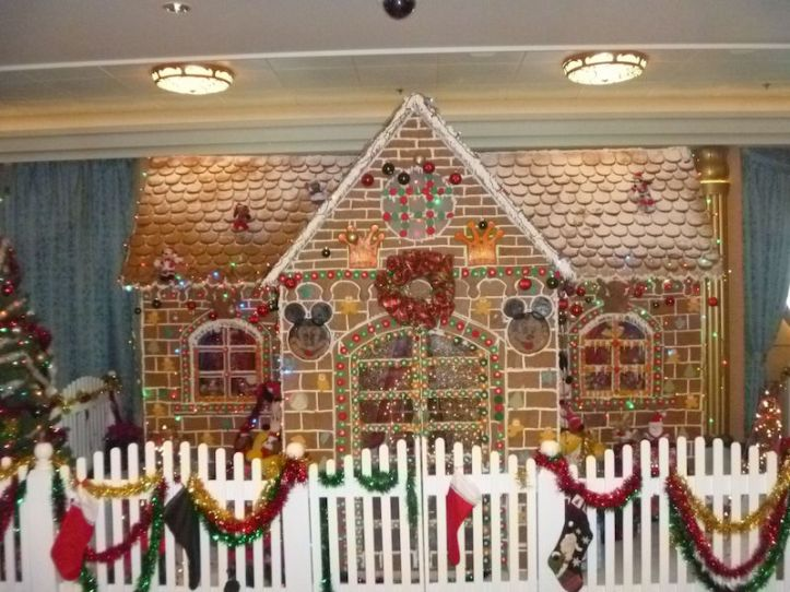 Even Disney Cruise Line has a Gingerbread House - this one was on the Disney Fantasy