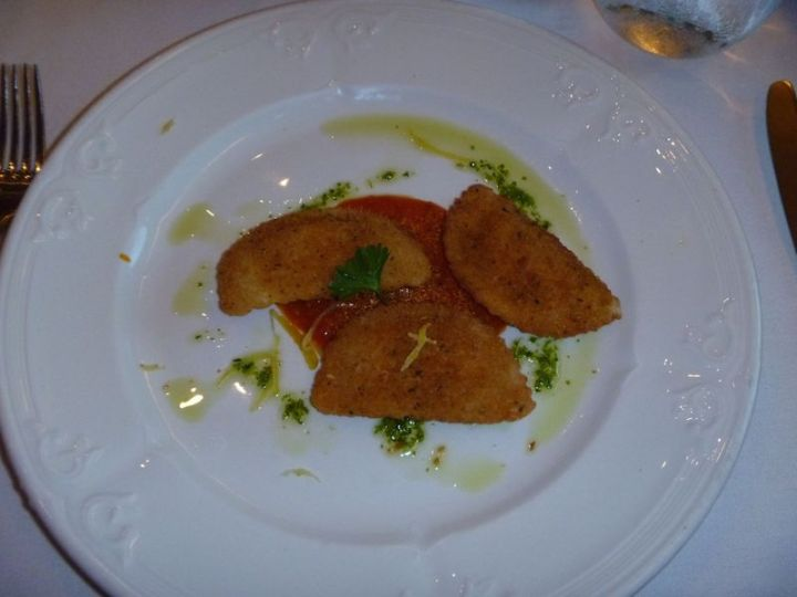 Crumbed, cheesy, ravioli parcels - I could have eaten a bucket full of these