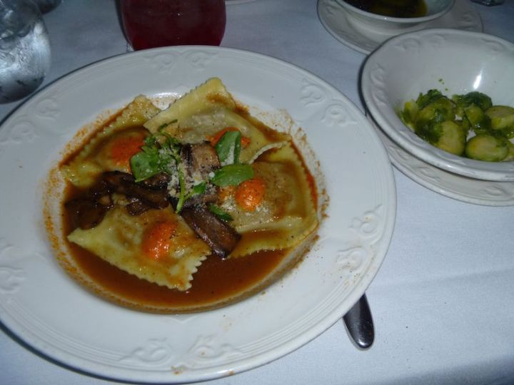 Ravioli parcels and I asked for a side of brussel sprouts which were a side on one of the carnivore meals