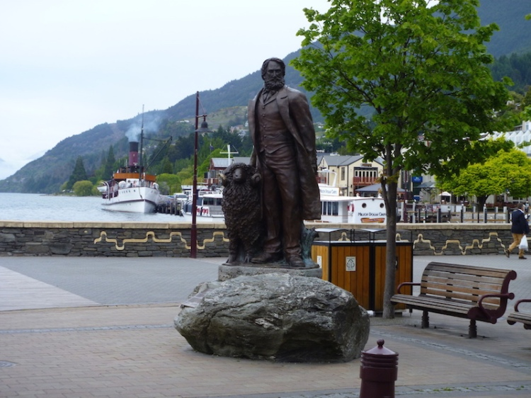 I admired this bronze statue of William Rees, the first European Settler in the area and presumably one of the first sheep ...
