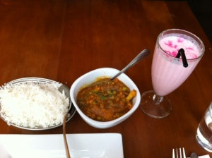 The Spice Room - Subz Bahaar and a Rose Lassi