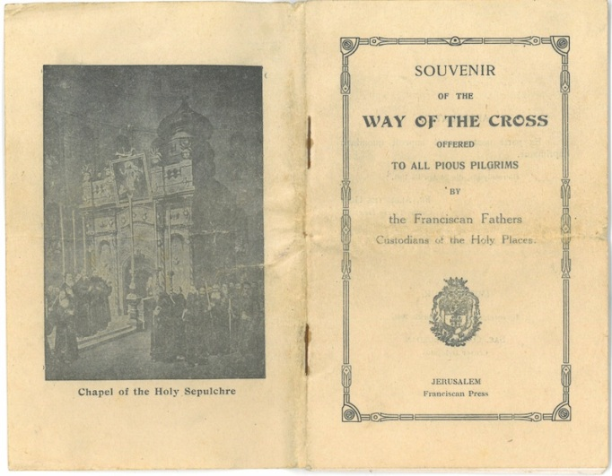 Way of the Cross - Souvenir booklet which Grandad bought home with him from Jerusalem