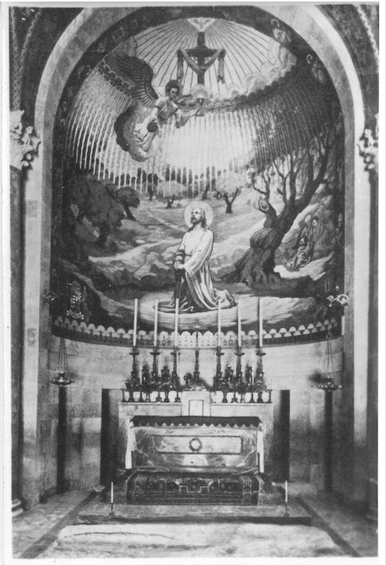 """Altar of Church of """"All Nations"""" showing mosaic work - Jerusalem"""