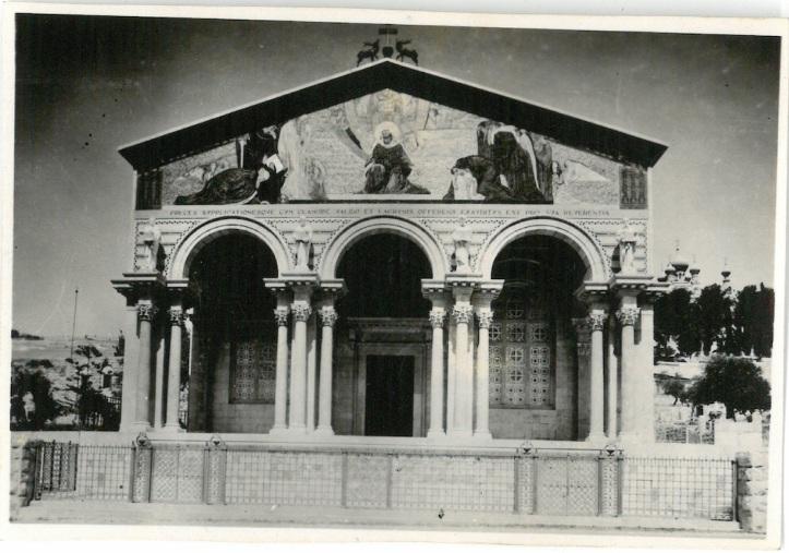 Front of Church of All Nations, Garden of Gethsemane - Jerusalem