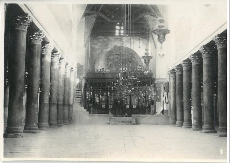 Inside View of Church of Nativity - Bethlehem