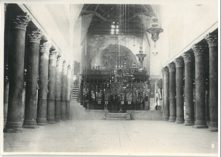 Inside View of Church of Nativity - Bethlehem