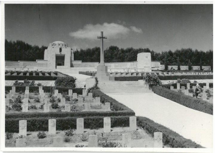 Looking toward monument & chapel - War Cemetery - Jerusalem
