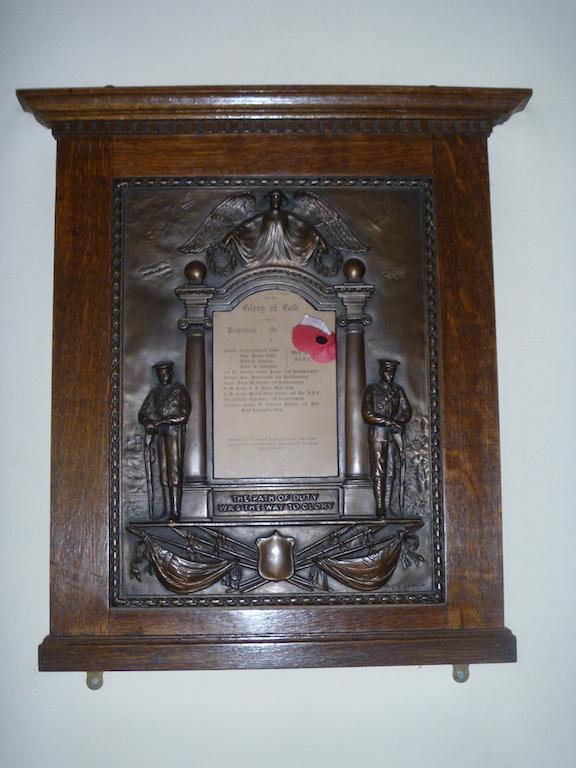 World War 1 Memorial Plaque