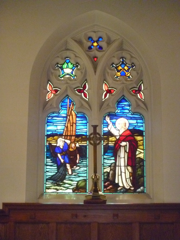 World War 2 Memorial Window depicting the call of St Peter