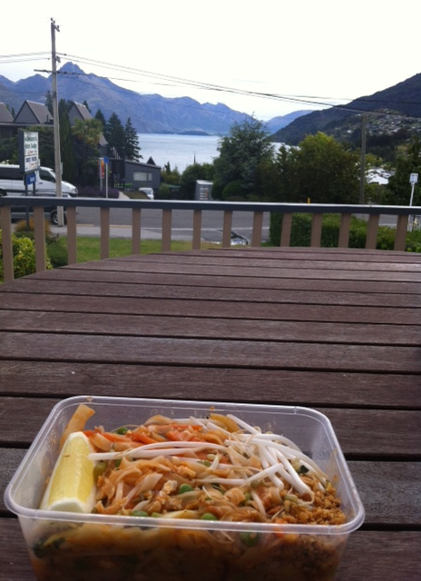 Pad Thai from Thai Siam - while admiring the view