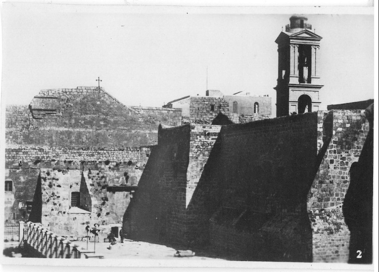 View of Entrance Outside of Church of Nativity - Bethlehem