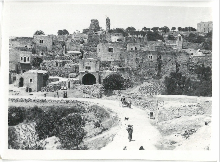 View of Village of Bethany on outside of Old City of Jerusalem and is where Christ stayed with Mary & Matha on his visits to Holy City