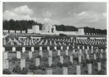 View with chapel in background - War Cemetery - Jerusalem