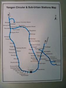 Yangon Circular Railway Map