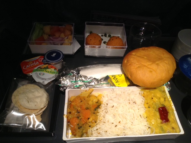 Dinner outbound from Singapore