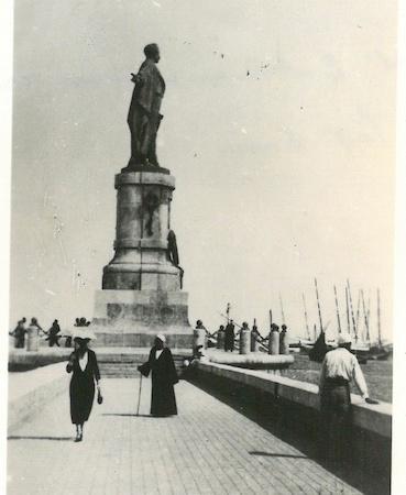 Monument to De Lessep at entrance of Suez Canal - Port Said