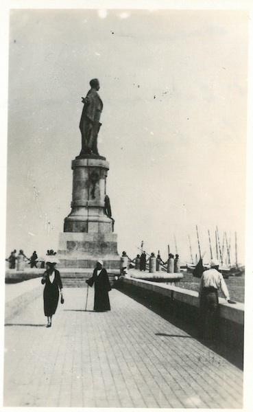 Monument to De Lessep at entrance of Suez Canal - Port Said