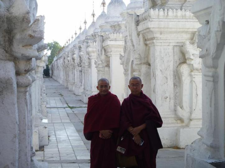 These monks wanted to take our photo so we said, sure, if we can take yours :-)