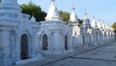 Hsinbyume Pagoda, Mingun (& take your sunglasses!) – near