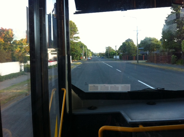 So it was an early bus ride to the airport on Monday catching the 7.14am bus.  As you can see, traffic wasn't an issue and its only a 10 minute ride so I got there in plenty of time for my 8.55am flight as I planned to have breakfast at the airport.