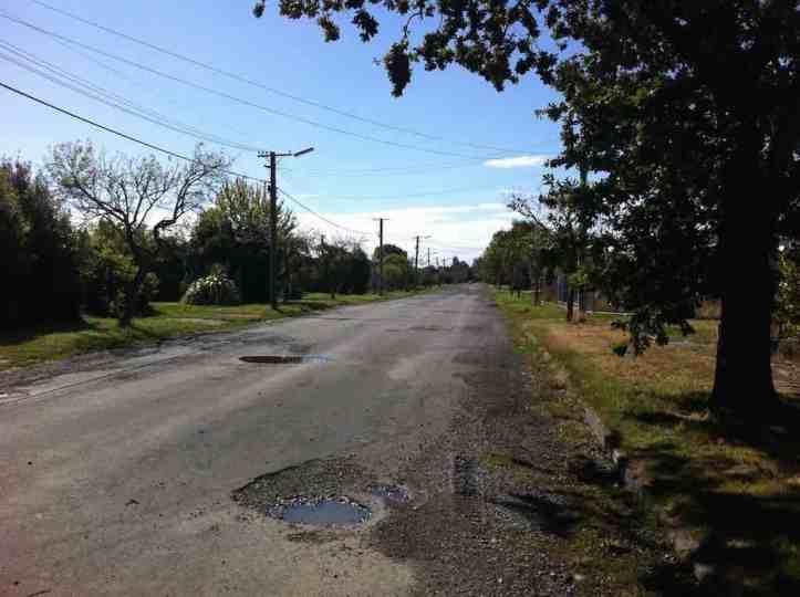 The road falling into disrepair