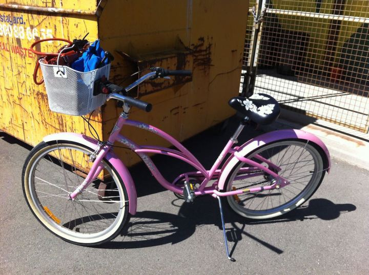 My pink Electra bike - I love this, its awesome to ride!