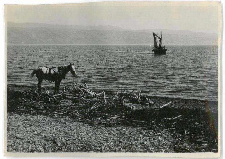 Looking across Dead Sea towards Northern Shore - Jordan Valley - Palestine