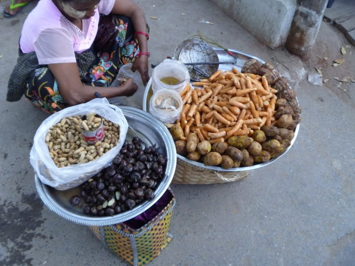 Snacks - potatoes and nuts