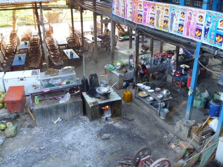 A cafe kitchen