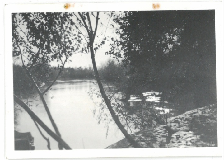 View of Jordan River where Christ was baptised - Palestine