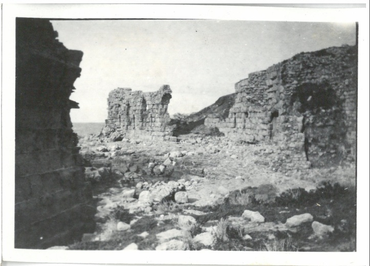 View of ruins of Atlit Castle - Palestine