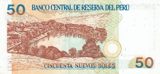 Huacachina on the 50 Soles note