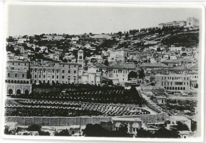 General View of Nazareth, showing Polish Children Refugee Manor in high background - Nazareth