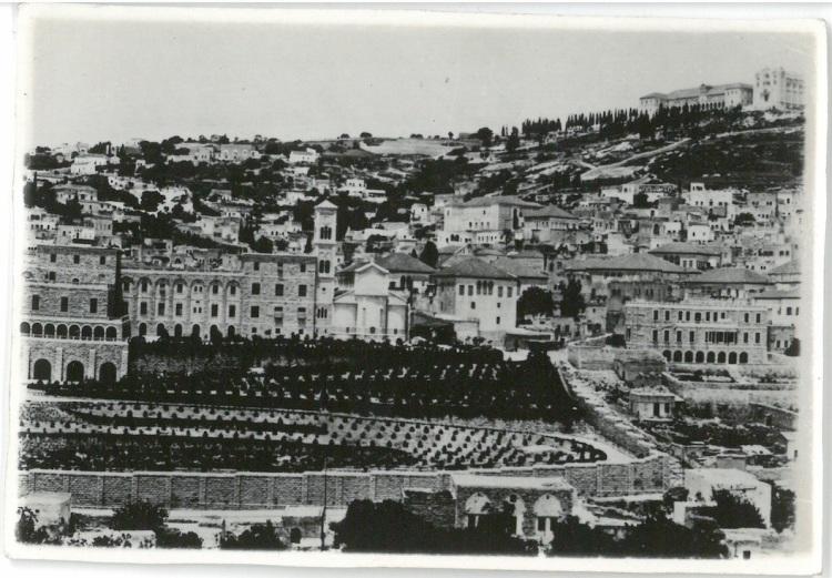 General View of Nazareth, showing Polish Children Refugee Manor in high background - Nazareth